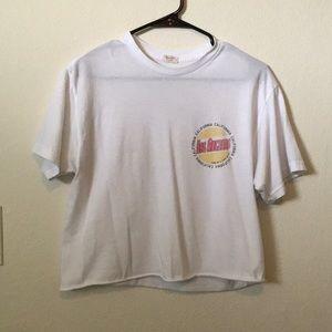 White cropped brandy Melville/John gault T-shirt